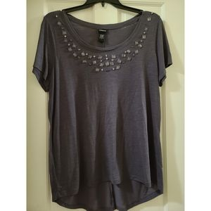 Torrid jeweled  grey shirt 2x
